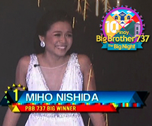 Welcome to the outside world PBB 737 big winner Miho Nishida